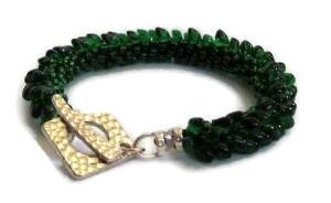 Pop on Top Emerald Bracelet